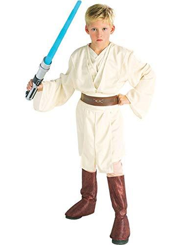 Star Wars Deluxe Obi-Wan Kenobi Kostüm Kinderkostüm Macht Lichtschwert Gr. S - L, - Kinder Deluxe Obi Wan Kenobi Kostüm