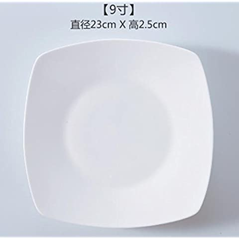 XQXSpaghetti di piatti occidentali con piatti di carne piatto piatto piatto piatto piatto in ceramica bianco Dinnerware torta dessert 3 , 9 inch four angle platter