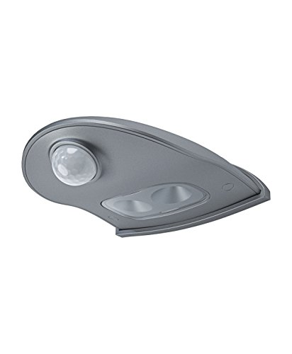 (Osram Door LED Down Batteriebetriebene Leuchte, für Außenanwendungen, Bewegungssensor, Tag-Nacht-Sensor, Kaltweiß, 102, 5 mm x 92, 4 mm x 36, 5 mm)