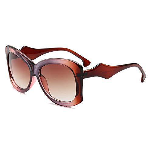 Wenkang Mode Frauen übergroßen Sonnenbrillen Farbverlauf Sonnenbrille Big Frame Sonnenbrille Brillen weiblichen Shades UV400,7