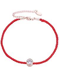 Toporchid Cristaux De Charme Bracelets pour Femmes Mince Fil Rouge Fil  Corde Corde Élégant Bracelet Bracelets e1bf1b06664a