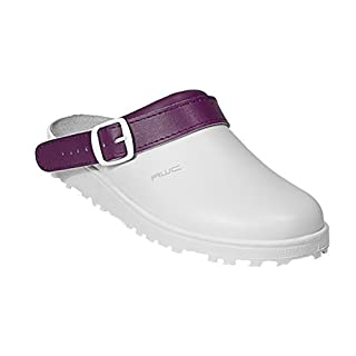 AWC-Footwear 17000-19-44-38 Classic color Arbeitsschuhe Weiß/Aubergine Taille 38
