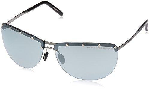 Porsche design p8577, occhiali da sole donna, (blau b), medium