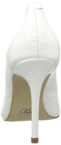 Buffalo Zs 6228-15 Patent, Escarpins Femme Blanc (White)