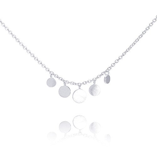 Pernille Corydon Damen Halskette Mini Coin - Kette runde Anhänger Silber - N007s