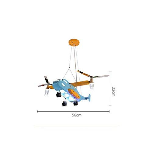 Augenschutz Flugzeug kreative Karikatur LED-Leuchten Kinderzimmer Kronleuchter Schlafzimmer Lampen Jungen Mädchen Raumbeleuchtung [Effizienzklasse : A +] - 6
