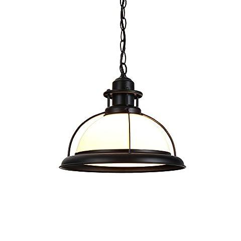 LZDHY Moderne Eisen-Glas-Kronleuchter Decken-Pendelleuchte Hohe Lichtdurchlässigkeit Home Cafe Hängende Lichter Weihnachtsgeschenk 26 * 23cm