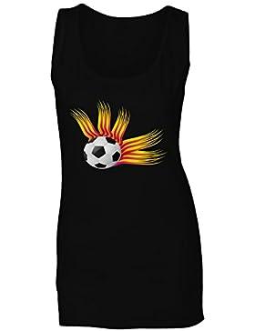 Nuevo Estilo Retro Abstracto De Fútbol camiseta sin mangas mujer l948ft