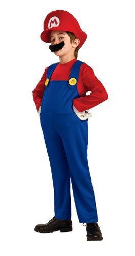 stüm (S - 4/6 Jahre - 110 122 cm) (Mario-kostüm Für Kleinkind)