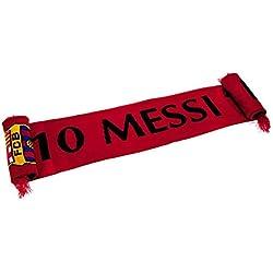 FCB FC Barcelona - Bufanda de Messi (Talla Única/Granate)