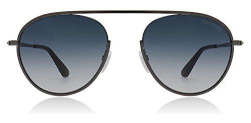 Tom Ford Unisex-Erwachsene FT0599 08W 55 Sonnenbrille, Grau (Antracite Luc/Blu Grad),
