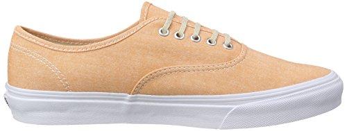 Vans Authentic Slim, Sneakers Basses mixte adulte Orange (Chambray/Coral/True White)