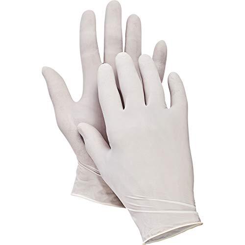 Latex Einweghandschuhe, gepuderte Einmalhandschuhe, Ideal für Arztpraxen, Küchen oder Gebäudereinigung, Gr. 10 (XL) ()