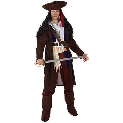 Atosa - Disfraz de pirata para hombre, talla 52 - 54 (97234)