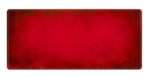 Silent Monsters Tapis de Souris XXL (900 x 400 mm) Mouse Pad Grand, Motif Rouge, approprié pour Souris de Bureau et Souris de Gaming