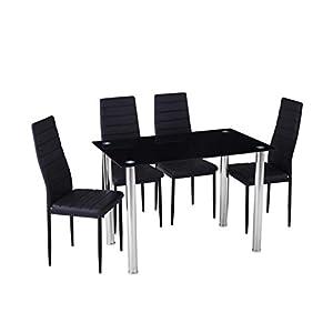 Essgruppe mit 4 Stühlen & Esstisch als Set oder einzeln - perfekt geeignet für Esszimmer, Küche & Wohnzimmer (1x Esstisch)