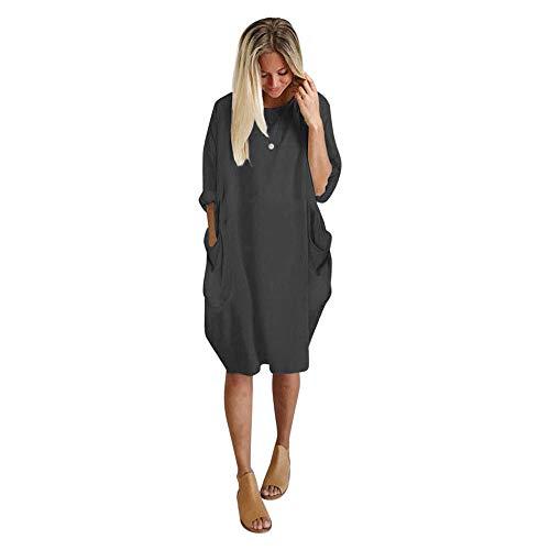 Subfamily t-shirt da donna girocollo di grandi dimensioni abito ampio a maniche lunghe in tinta unita abito comodo moda autunno e inverno