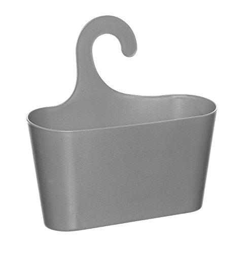 Wohnideenshop Duschkorb mit Haken zum Einhängen grau und 15 anderen Farben zum auswählen