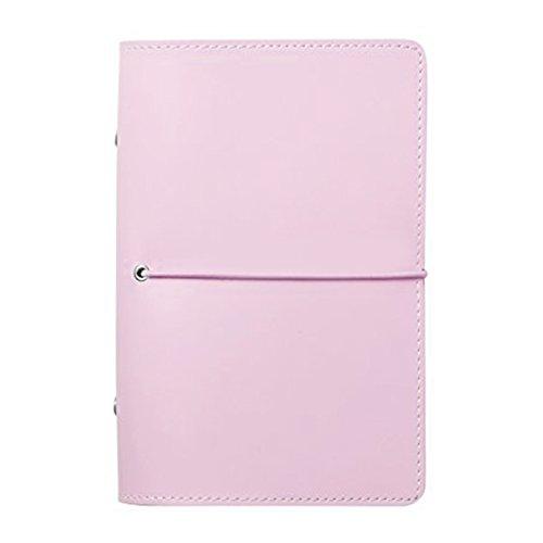 Labon's Filofax 6 Round Anello Hardcover Binder has Ricariche Planner per Settimanale Mensile Agenda Quotidiana / 2019 2020 Calendario/Telefono & Indirizzo/Personal Memo 240 Pagine (A6, Rosa)