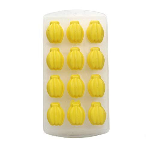 Silikon-Formen für Süßigkeiten Kaktus Kokosnussbaum und Ananas, für die Herstellung Gelee-Zucker Schokolade Eiswürfelform,Eiswürfel-Gelee-Frucht-Kuchen-DIY Form-Form-Behälter-Pudding,Zufällig (Kleine Frucht-silikon-form)