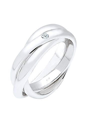 Elli Premium Damen Ring 925 Sterling Silber Diamant weiß 0,03 ct Brillantschliff Gr.56 (17,8) 0601371515_56