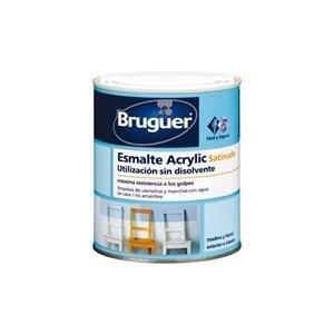 Bruguer - Esmalte Acrlico Satinado Laca Acrylic Blanco Permanente 750