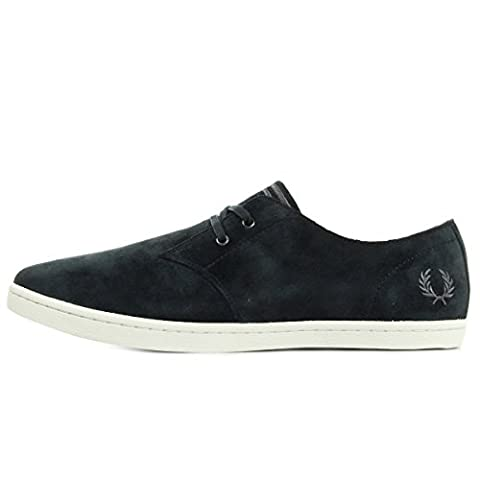 Fred Perry Byron Low Suede Navy Falcon Grey B7401248, Basket
