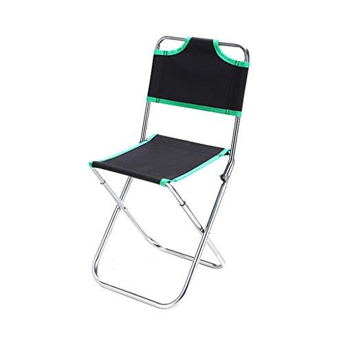 ToDIDAF Tragbarer Klappstuhl, Leichter Campingstuhl, Angeln Outdoor BBQ Beach Seat - Schwarz, Grün (Grün) (Kunststoff-stuhl Gleitet)