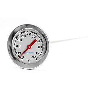 Lantelme 3114 500 °C grados, 50 cm, bimetal, horno, cocinar Horno, horno de leña, madera del Horno, horno de pizza, horno termómetro. Analog