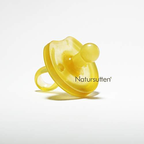 ✪ Natursutten Schmetterlingsform Schnuller | 100% Naturkautschuk | Sauger | runde Form | EINFACH ZU SÄUBERN | Enthält KEINE Phthalate, PVC, chemische Weichmacher oder künstliche Farbstoffe | Klein | 0-6 Monate