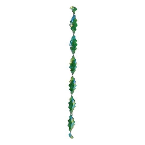Shreeji Decoration Green Designer Zig-Zag Wind Twister - 20 g