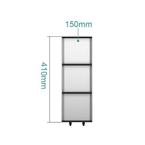 Organisateur/diviseurs tiroir extensible pour couverts, ustensiles de cuisine en acier inoxydable Boîte de partition tiroirs,410 de long et 150 de large