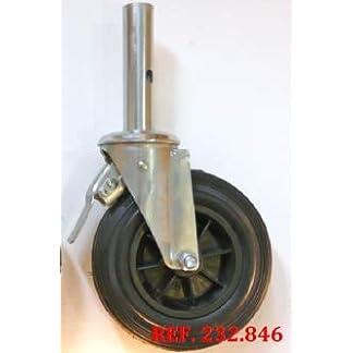 Rueda de andamio convencional tubo interior 35×150 mm para 200 kgs (CAJA DE 8 UNIDADES)