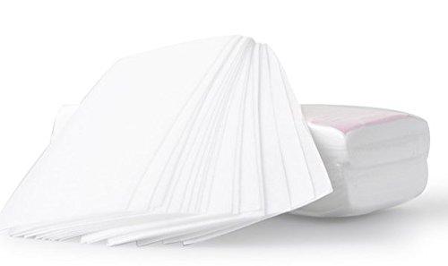 Kingstons Bein Haarentfernung Wachs-Streifen papier Haarentfernung Faserstoff Epilierer (weiß & # xff09; (Tuch-wachs-streifen)