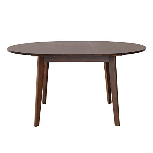 LVZAIXI Table de salle à manger ronde ronde de papillon de chêne / chêne naturel prolongeant la table ronde de salle à manger / meubles de salle à manger / meubles de salon / meubles à la maison ( Couleur : Marron )
