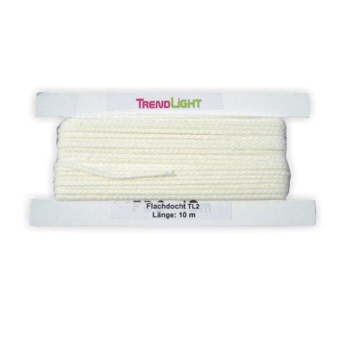 TrendLight 860467 Kerzendocht, Flachdocht TL2 10 m bis 4 cm Durchmesser