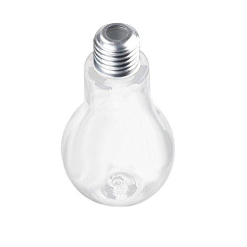 dikewang Neueste auslaufsicher Leuchtmittel Wasser Flasche Sommer Kurze Süße Milch Saft Leuchtmittel Tasse, offene die Glühbirne einfügen können eine Stroh, E-500ML (Kurz Athlet)