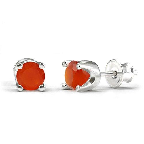 mystic-silver-preciosos-pendientes-piedra-natural-de-cornalina-alta-calidad-plata-de-ley-925-15mm-2g