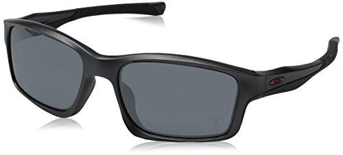 affccca41ca367 Oakley - Lunette de soleil Chainlink Rectangulaire - Homme, Steel Black  Iridium (S3