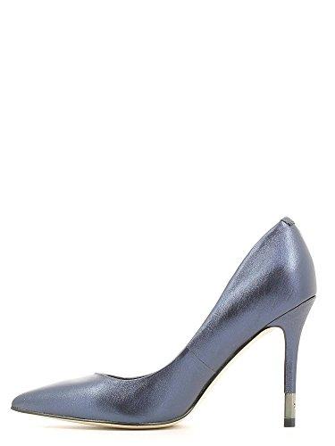GUESS Bayan6 Decolte Donna Platino Pelle Blu