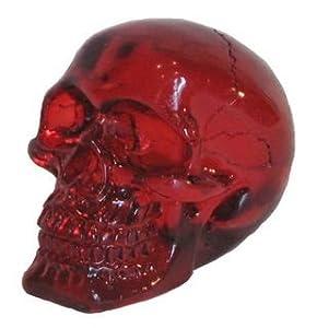 Katerina Prestige Figura de Calavera Transparente Rojo 7 cm