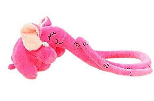 YiyiLai Peluche Poupée d'éléphant Le Nez Longue Jouet Coussin Cadeau d'Enfant Doudou Rose Rouge