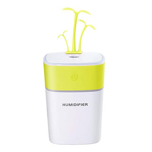 WEINANA 4 In 1 USB Diffusor Luftbefeuchter Nano Sprühnebel Diffusor Bewegliche Energienbank Mini Fan Mit Wenig Gras Decor (Fan Diffusor)