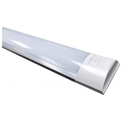 Led Atomant Pantalla Carcasa Integrado 120cm, 40 W, Color Blanco Frio 6500K, Equivalente a 2 Tubos Fluorescentes o Led 3300 lumenes Reales. A Prueba de Polvo, 120 Cm