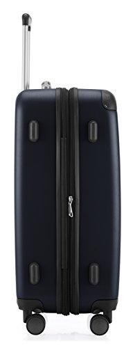 HAUPTSTADTKOFFER - Spree - 3er Koffer-Set Trolley-Set Rollkoffer Reisekoffer Erweiterbar, TSA, 4 Rollen, (S, M & L), Dunkelblau - 7