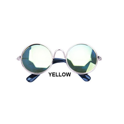 Aprigy - Cat Eye-Wear Pet Sonnenbrille Little Dog Glas-Katze Brille Fotos Props Hund Katze Zubeh?r Tierbedarf f¨¹r Haustier-Produkte [Gelb ]