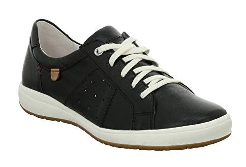 Josef Seibel 67701 Caren 01 Damen Low-Top Sneaker,Halbschuh,Schnürschuh,Strassenschuh,Business,Freizeit,schwarz,43 EU -