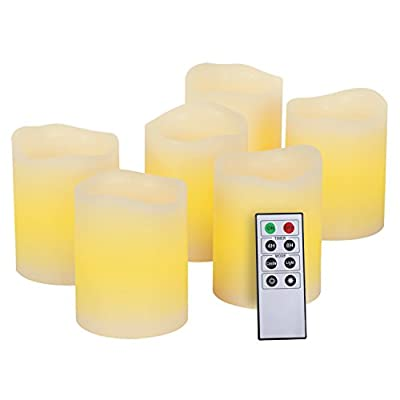 Kohree Led Candles with Remote, Kohree Flameless Votive Candles Battery Powered Candles With Timer, Perfect for Weddings, Christmas, Funerals, Souvenirs, Dia (Set Of 6) by Kohree