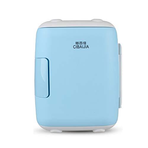 Mini-Kühlschrank Haushalt kleinen Kühlschrank mit doppeltem Verwendungszweck tragbares Auto verwenden kleinen Kühlschrank, 27 * 27 * 21cm (Color : Blue, Size : 8L)