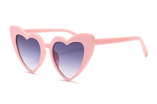 FEISEDY Vintage Heart Shaped Sonnenbrille stilvolle Liebe Brillen Frauen große Weihnachtsgeschenk B2421